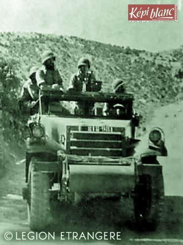 3 REI - 3REI - 3rd Foreign Infantry Regiment - 3rd REI - Algeria 1955 - Scout Car