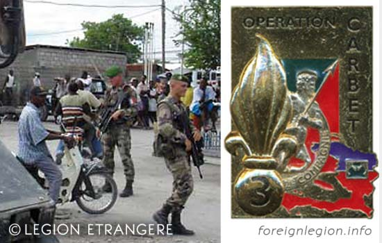 3e REI - 3 REI - 3rd Foreign Infantry Regiment - 3rd REI - Operation Carbet - Haiti