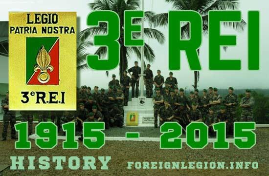 3e Régiment Etranger d'Infanterie - 3 REI - 3REI - 3eme REI - History