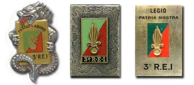 3 REI - 3REI - 3rd Foreign Infantry Regiment - 3rd REI - Indochina - Insignia - Regimental badge