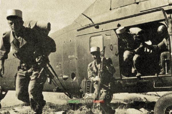 4e CSPL - 4 CSPL - Foreign Legion Etrangere - Helicopter - 1958 - Algeria