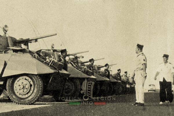 4e CSPL - 4 CSPL - Foreign Legion Etrangere - Machine Gun Platoon - AM M8 - M8 Greyhound - 1959 - Algeria
