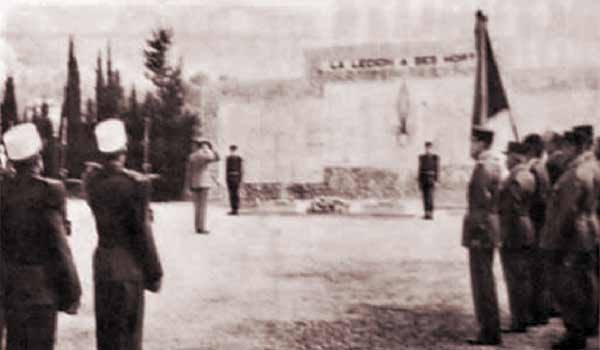 1st Volunteer company of GILE in Puyloubier