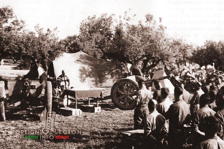 1er REIM - 1 REIM - Foreign Legion - Tunisia - 1943 - Easter ceremony