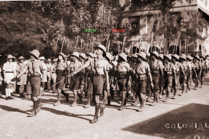 4 DBLE - 4th Half-brigade - Foreign Legion - Senegal - Saint-Louis - parade - 1942