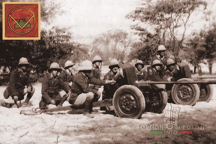 Section de Canons - 4eme DBLE - 4e Demi-brigade - Legion Etrangere - Senegal - 1942