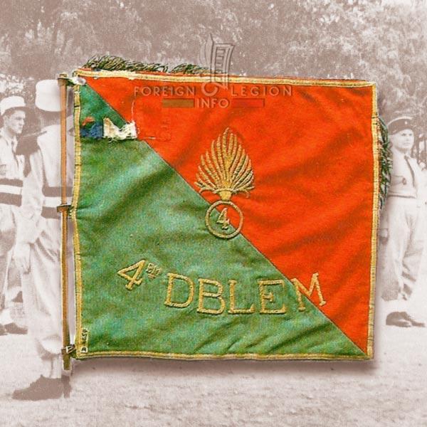 Fanion - 4th Foreign Legion Half-brigade - Morocco - 4e DBLEM - 4 DBLE - Foreign Legion