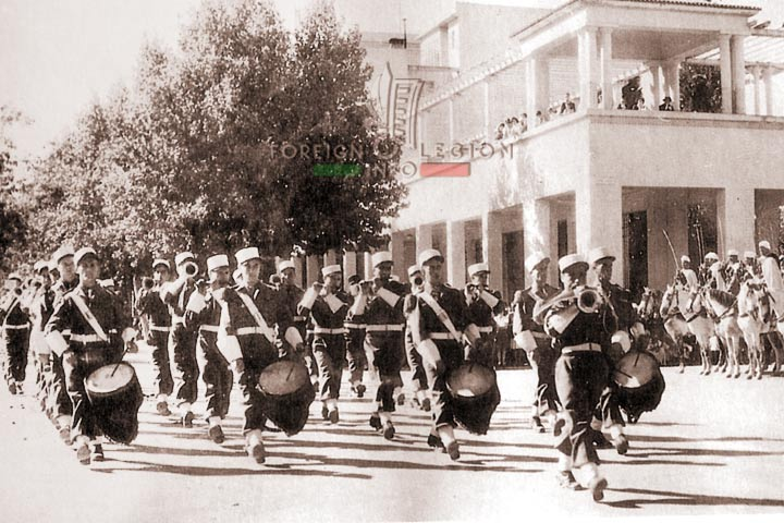 Music band - 4e DBLEM - 4 DBLE - Foreign Legion - Morocco - Meknes - 1948