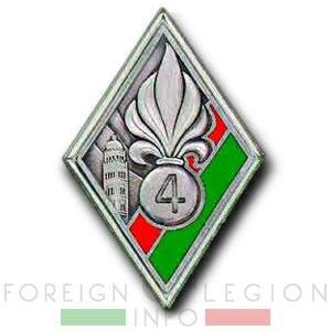 4e Régiment Etranger d'Infanterie - 4e Demi-brigade de Légion - 4e REI - 4e DBLE - Legion Etrangere - Insigne - 1937