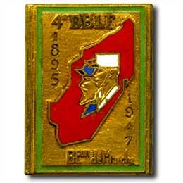 4e DBLE Madagascar 1947 insignia
