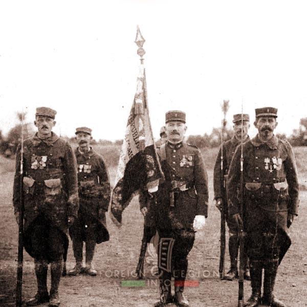 Flag - regimental color - Marrakech - 4e REI - 4 REI - Foreign Legion - Morocco - 1925