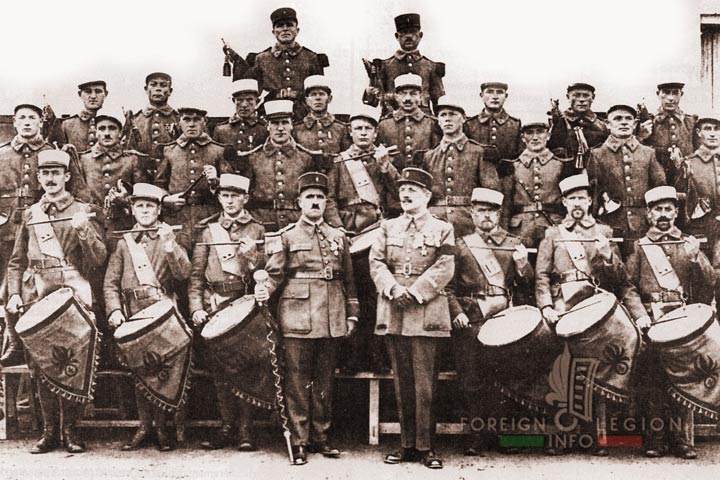 Military band - 4e REI - 4 REI - 4th REI - 4th Foreign Infantry Regiment - Foreign Legion - Morocco - 1933