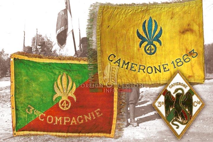 3rd Company - Camerone - Fanion - Badge - 4e REI - 4eme REI - Foreign Legion - Morocco - 1937