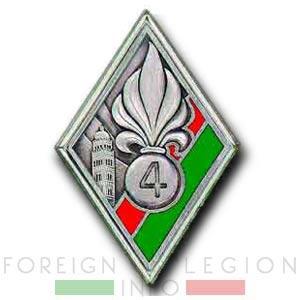 Insignia - Badge - 4e REI - 4 REI - Foreign Legion - 1937