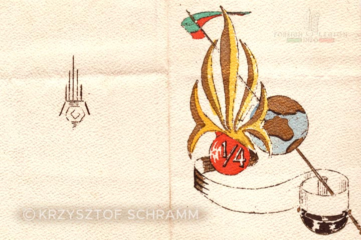 Christmas card - 1st Battalion - 4e REI - 4 REI - 4th REI - 4th Foreign Infantry Regiment - Foreign Legion - Morocco - 1950s