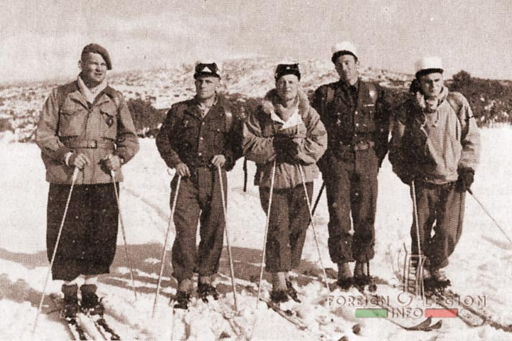 Skiers - 4th Battalion - 4e REI - 4 REI - 4th REI - 4th Foreign Infantry Regiment - Foreign Legion - Morocco - 1954