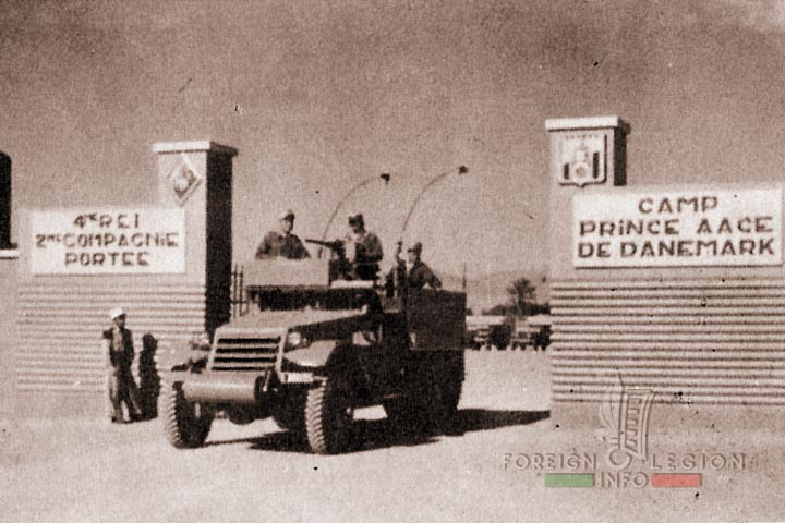 Camp Prince Aage de Danemark - M3 Half Track - 2nd Motorized Company - 4e REI - 4 REI - 4th REI - 4th Foreign Infantry Regiment - Foreign Legion - Morocco - 1955