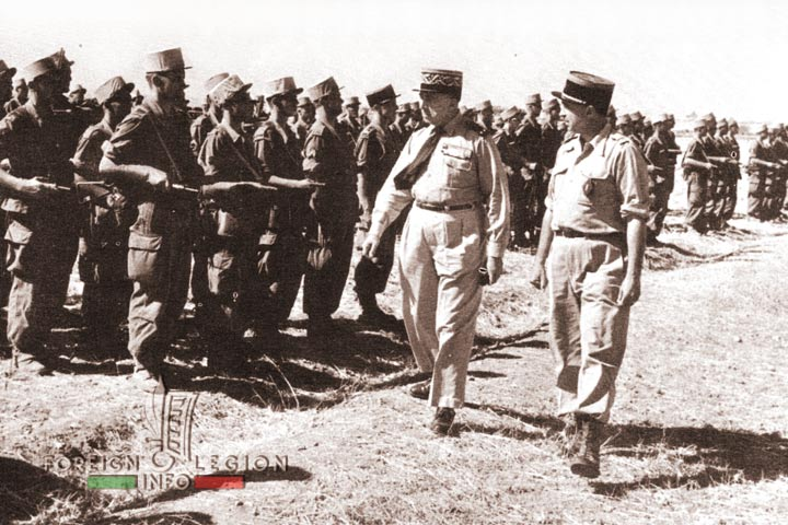 Oued Zem - 4e REI - 4 REI - 4th REI - 4th Foreign Infantry Regiment - Foreign Legion - Morocco - Colonel Borreill - General Franchi - 1955
