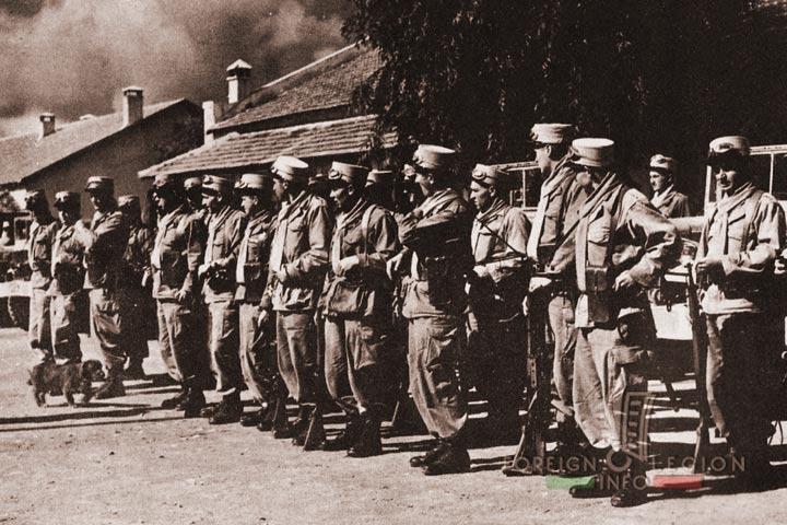 Khenifra - 1st Motorized Company - 4e REI - 4 REI - 4th REI - 4th Foreign Infantry Regiment - Foreign Legion - Morocco - 1956