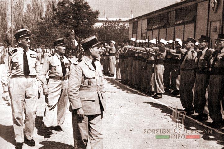 Tebessa - 4e REI - 4 REI - 4th REI - 4th Foreign Infantry Regiment - Foreign Legion - Algeria - 1957 - Colonel Lennuyeux - Colonel Lemeunier - Lieutenant-colonel Sourlier