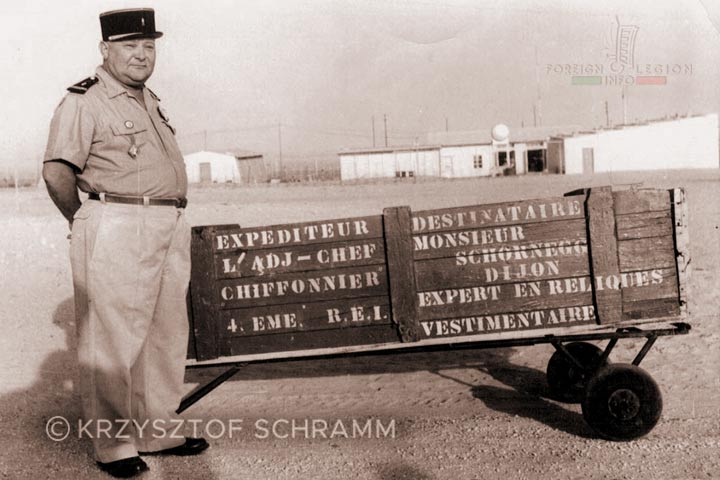 Adjudant-chef - 4e REI - 4 REI - 4th REI - 4th Foreign Infantry Regiment - Foreign Legion - Algeria - 1958