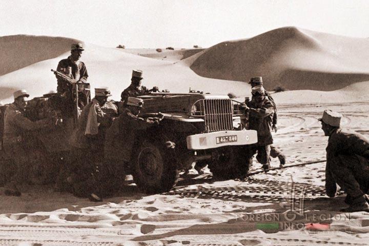 Dodge - 4e REI - 4 REI - 4th REI - 4th Foreign Infantry Regiment - Foreign Legion - Algeria - Sahara - 1958