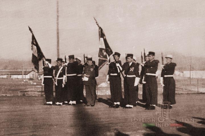 Colors - Flags - 4e REI - 4 REI - 4th REI - 4th Foreign Infantry Regiment - Foreign Legion - Algeria - 1958