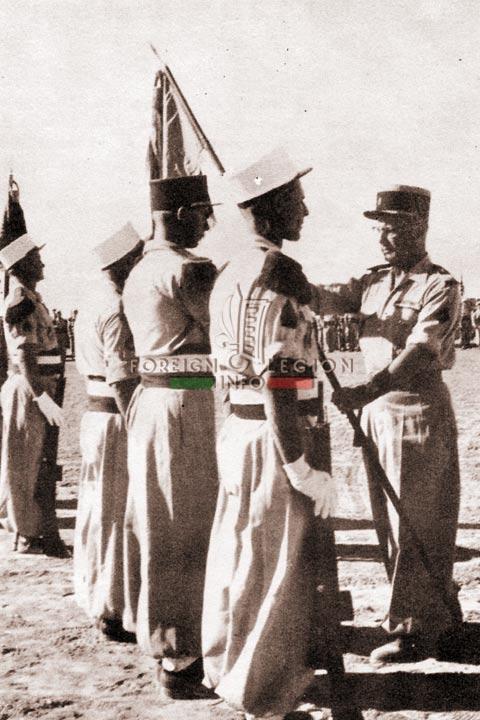 CBA Wattiez - Fanion d EMT 1 - 4e REI - 4 REI - 4th REI - 4th Foreign Infantry Regiment - Foreign Legion - Algeria - 1958