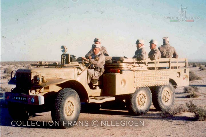 Dodge 6x6 - 6th Motorized Company - 4e REI - 4 REI - 4th REI - 4th Foreign Infantry Regiment - Foreign Legion - Algeria - 1959