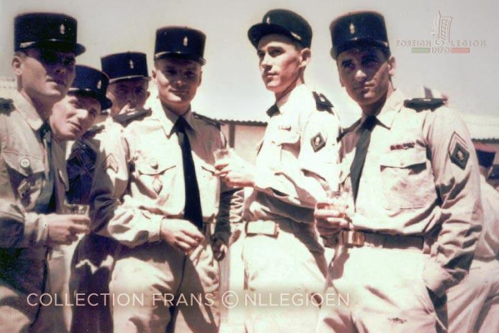 Sergeants - 6th Motorized Company - Sergeant Scheer - 4e REI - 4 REI - 4th REI - 4th Foreign Infantry Regiment - Foreign Legion - Algeria - 1959