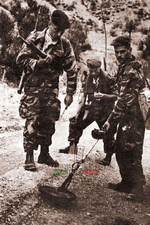 Mine clearing route - 4e REI - 4 REI - 4th REI - 4th Foreign Infantry Regiment - Foreign Legion - Algeria - 1960