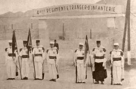 3rd Motorized Company - 3e Compagnie portée - 3e CP - of 4e REI dissolution in Colomb-Bechar 1964