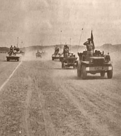 4th Motorized Company (4e Compagnie portée) of 4e REI near Fort Trinquet - Mauritania - 1957