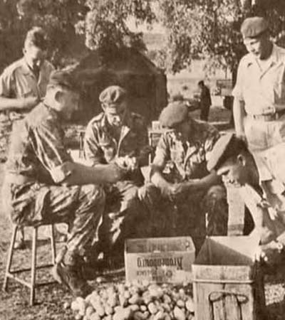 5th Motorized Company (5e Compagnie portée) of 4e REI in its camp near La Calle 1961