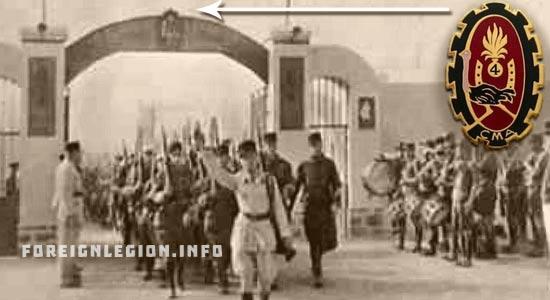 Foum el Hassan - 4e REI Compagnie Montée Automobile camp & insigne - CMA - 4e REI's Motorized Mounted Company camp & insignia - 1939