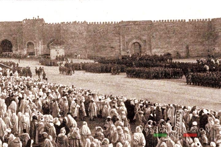 Meknes - Morocco - 1917 - Troops
