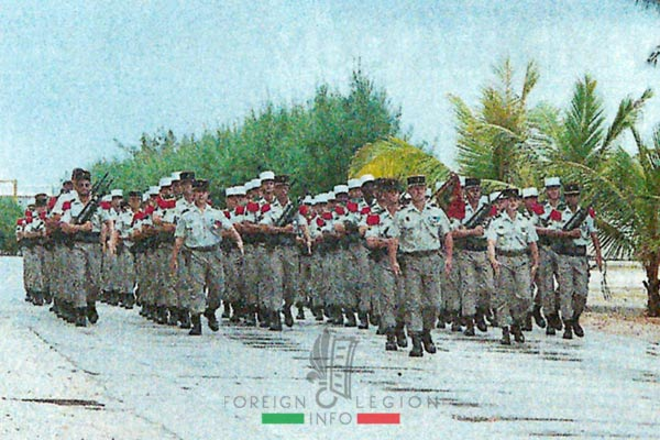 5e RE - 5 RE - 5th Foreign Regiment - 5th RE - Foreign Legion Etrangere - 1995 - Mururoa - French Polynesia