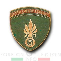 5e REI - 5 REI - 5th Foreign Infantry Regiment - 5th REI - Foreign Legion Etrangere - Bataillon de Marche du 5 - BM 5 - French Indochina