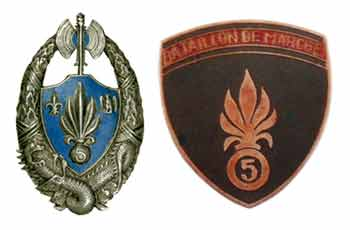 Insignia of the 5e REI 1930-45 and the BM5