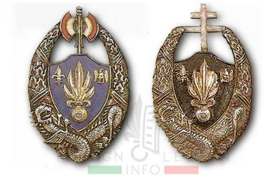 5e REI - 5 REI - 5th Foreign Infantry Regiment - 5th REI - Foreign Legion Etrangere - 1942 - insignia - French Indochina