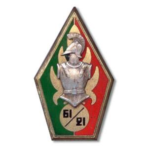 61e BG - 61e Bataillon du genie / 21e compagnie Indochine insigne - 61 Engineer Battalion / 21 company Indochina insignia - 1949