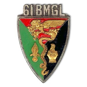 61e BMGL insigne - 61 BMGL insignia - 61st BMGL 1970