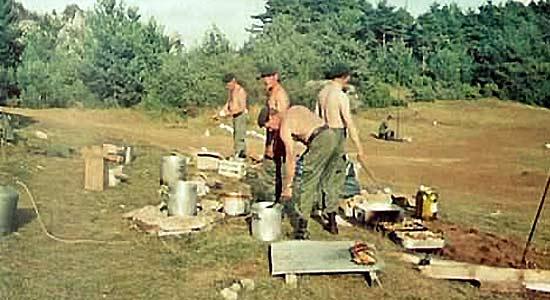 Legionnaires - CTL - 61e BMGL - exercise - Larzac 1980