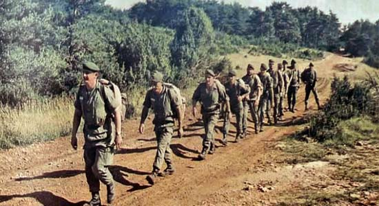 61e BMGL - 61 BMGL - Legionnaires - CTL - exercise - Larzac 1980