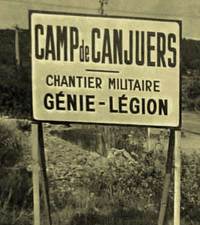 Camp de Canjuers Genie Legion board 1968