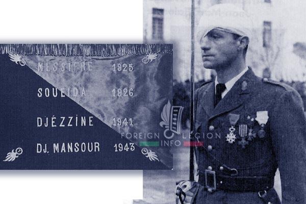1er REI - 1 REI - Legion Etrangere - 1943 - 2e compagnie - Fanion - Sidi Bel Abbes - Gabriel Favreau