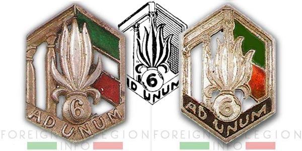 6e REI - 6 REI - Foreign Legion - 1939-41 - Insignia - Badge - Levant