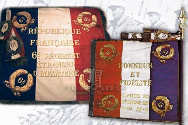 6e REI - 6 REI - Legion Etrangere - Drapeau