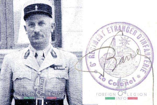 Fernard Barre - Legion Etrangere - 1940 - 6e Regiment etranger - Syrie - Levant