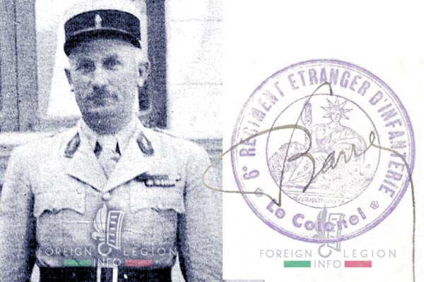 Fernard Barre - Foreign Legion - 1940 - 6th Foreign Regiment - Syria - Levant